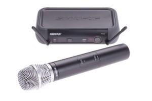 SHURE SM 86 - Schnurrloses Mikrofon der Sängerin Annett